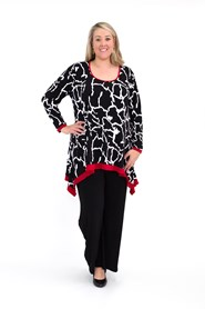 Cassandra Contrast Soft Knit Tunic Top