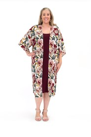 Frankie Printed Woven Jacket WORN WITH PORT MAXI