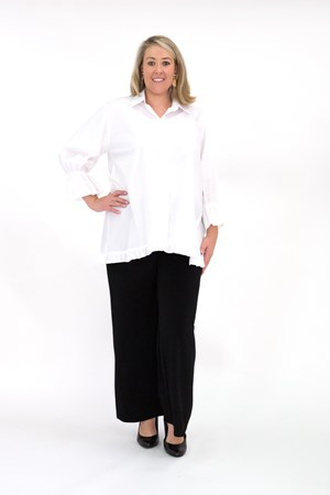 100% Cotton White Shirt with Detailing