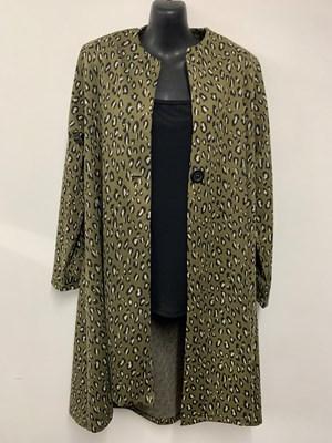Leopard Ponte Jacket KHAKI