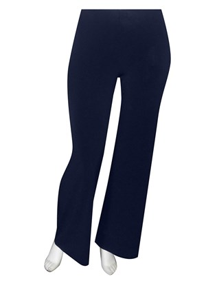 NAVY - Soft knit elastic waist pants