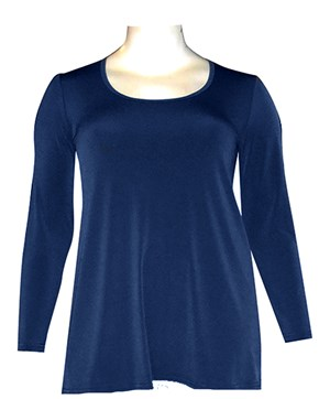 NAVY - Soft knit long sleeve tunic