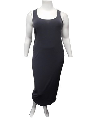 Roxanne Sleeveless Soft Knit Maxi Dress - Charcoal