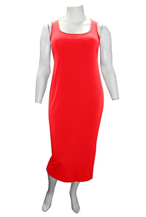 Roxanne Sleeveless Soft Knit Maxi Dress - Red