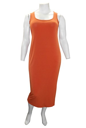 Roxanne Sleeveless Soft Knit Maxi Dress - Rust
