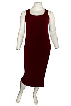 Roxanne Sleeveless Soft Knit Maxi Dress - Port