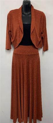 Woolly Knit Skirt RUST