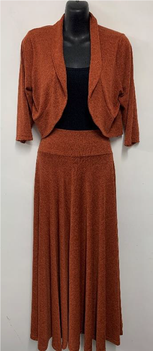 Woolly Knit Skirt RUST