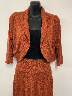 Woolly Knit Shrug RUST