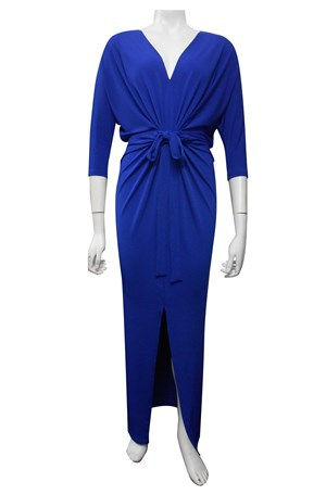 ROYAL - Victoria soft knit dress with front split
