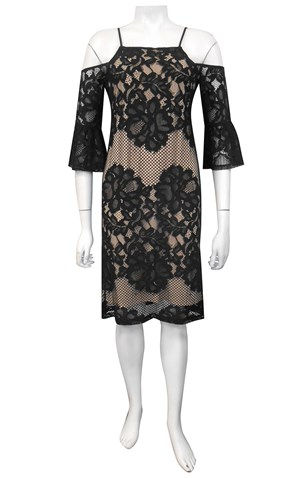 LIMITED STOCK - BLACK - Evie lace dress