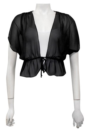 Zoe gathered chiffon shrug