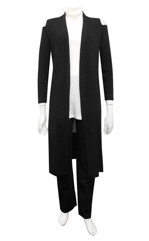 SIZES 10-18 ONLY - Anna long cardi with cut out shoulder