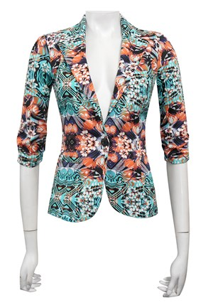 SATEEN PRINT 16 - Mika printed sateen jacket