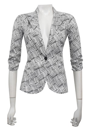 SATEEN PRINT 27 - Mika printed sateen jacket