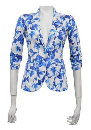 SATEEN PRINT 28 - Mika printed sateen jacket