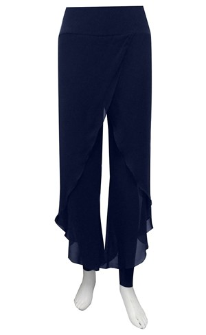 NAVY - Petra chiffon overlay pant with tight