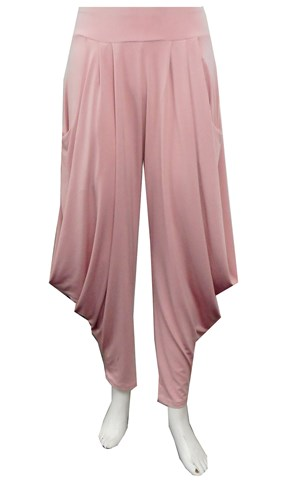 SHELL - Bella soft knit pants with cowl sides