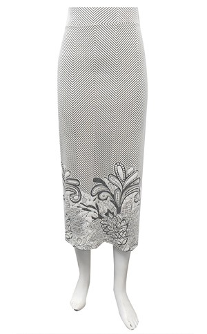 Emillie jacquard 7/8th length skirt