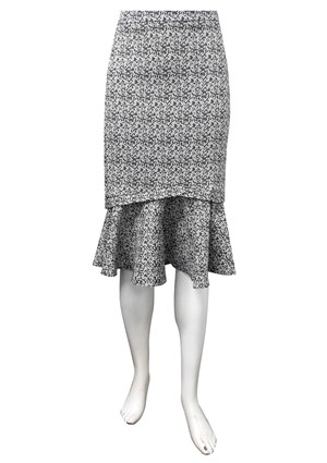 LIMITED STOCK - Bronwyn stretch jacquard skirt
