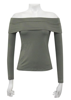 CLICK TO SEE COLOURS - Jordan silky knit fold down tee