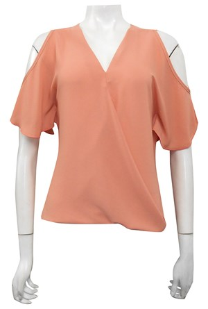 MUTED CLAY - Robyn cross front blouse
