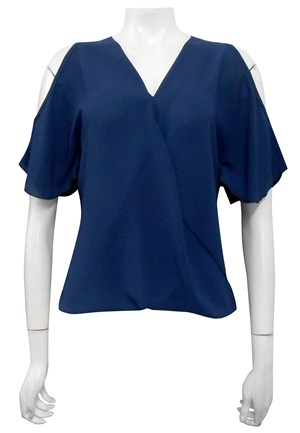 NAVY - Robyn cross front blouse