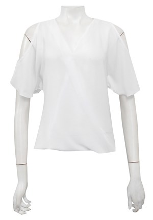 WHITE - Robyn cross front blouse