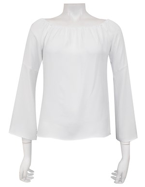 COMING AGAIN SOON - IVORY - Sophie plain off the shoulder top