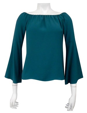 COMING AGAIN SOON - POSEY GREEN - Sophie plain off the shoulder top