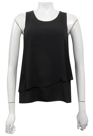 BLACK - Elle double layer DG top