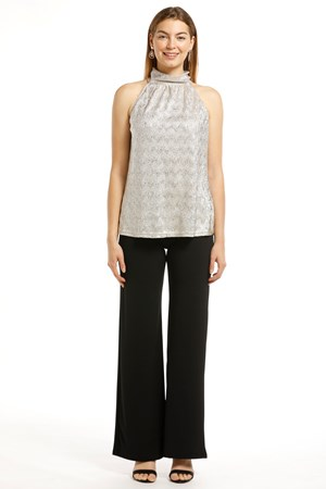 SOLD OUT Alexa Glow Knit Metallic Top
