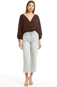 Dianna Woven Cross Front Top