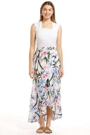 Lesley Chiffon Frill Wrap Skirt