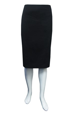 Office skirt with v waist band