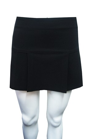 Bengaline box pleat skirt