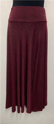 Woolly Knit Skirt PORT WINE