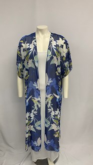 LIMITED Printed Chiffon Shrug BLUE