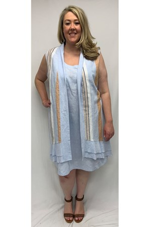 Mary Double Frill Cotton Long Vest