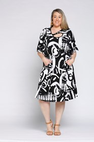 Soft Knit Key Hole Dress CLICK TO SEE 2 NEW PRINTS