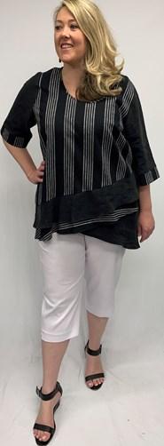 Katie Linen Stripe Top