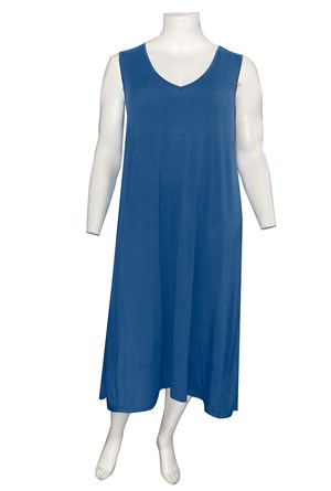 DENIM - Joanna silky knit A-line dress