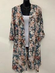 Bree Peaked Jacket Flower Print