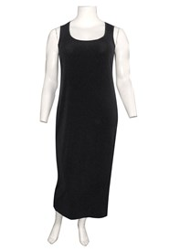 Roxanne Sleeveless Soft Knit Maxi Dress - Black