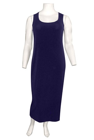 Roxanne Sleeveless Soft Knit Maxi Dress - Navy