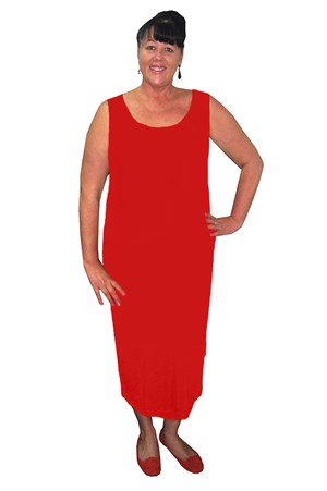 RED - Roxanne sleeveless maxi dress