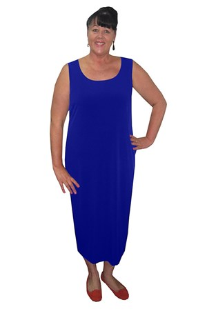 Roxanne Sleeveless Soft Knit Maxi Dress - Royal